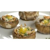 Грибы с начинкой из картофеля и сыра