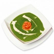 Суп-пюре из шпината с семгой